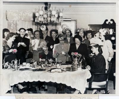 The Ida Mayer Cummings Ladies Auxilliary meets - tea, talk and dollars