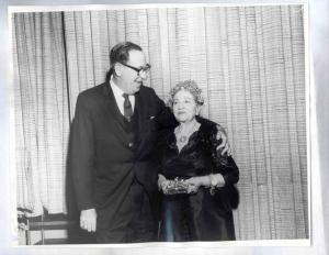 Rabbi Edgar I Magnin with Louis B Mayer's sister Ida Mayer Cummings