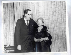 Rabbi Edgar I Magnin with Louis B Mayer's sister Ida Mayer Cummings
