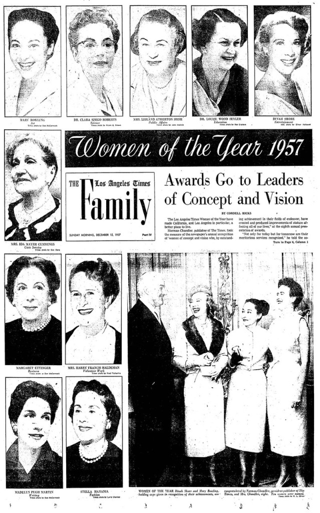 IMC Woman of the Yr 1957