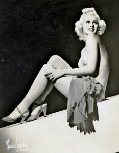 Mary Dees, who bore an uncanny resemblance to Jean Harlow, shown in an undated MGM publicity shot. She hoped for great things after appearing as Jean Harlow's replacement in Saratoga, the film MGM wanted to shelve after the screen goddess' sudden death on June 7, 1937.