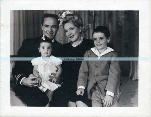 Mary Pickford Buddy Rogers and children family portrait watermark