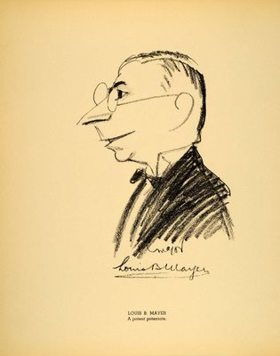 Louis B Mayer cartoon