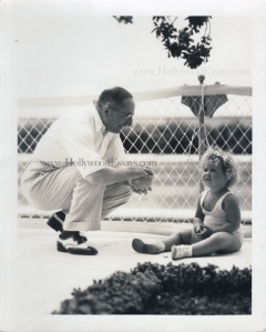 Louis B. Mayer with granddaughter.