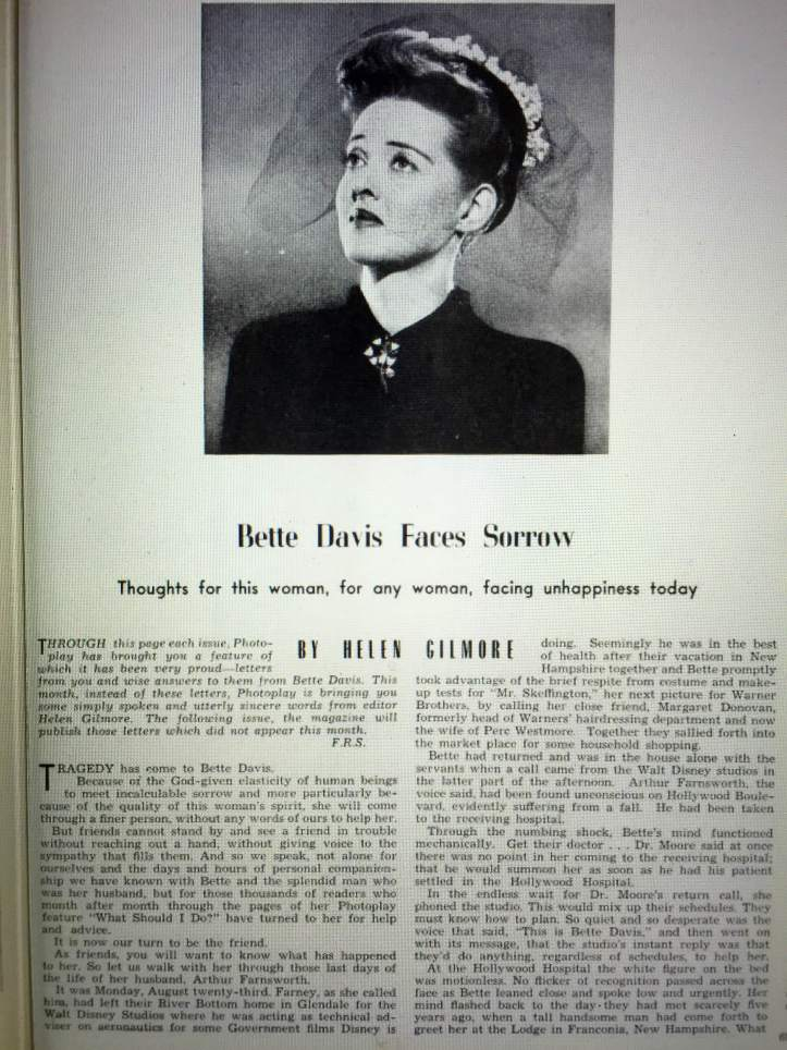 Helen Gilmore Mitzi editor in Photoplay Nov 1943