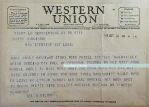 Helen Gilmore Photoplay ed to Mitzi re Eleanor Powell Glenn Ford wed 1943