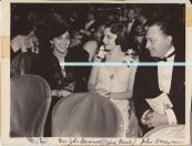 Mitzi with Mr and Mrs John Barrymore (Elaine Barrie).