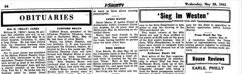 James Manos obit variety