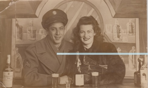 Leonard Sonny Cummings WWII with girlfriend watermark