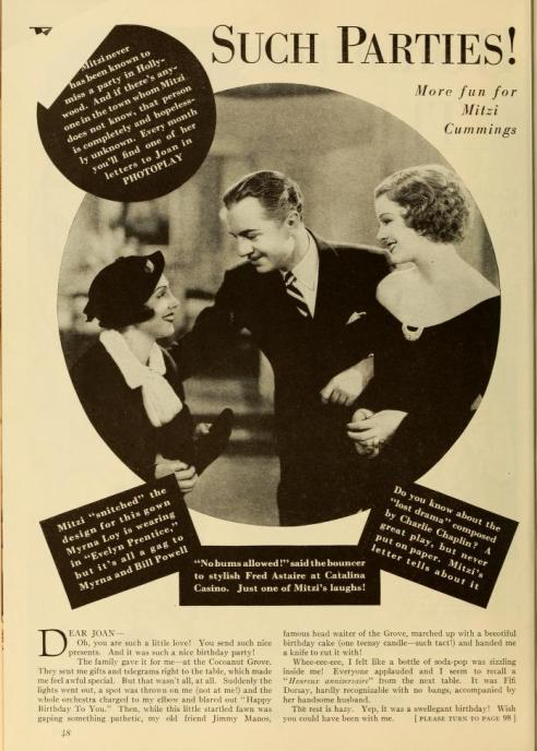 Mitzi column Photoplay Dec 1934 left