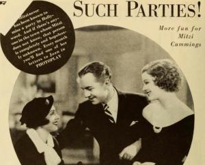 Photoplay Mitzi with William Powell and Myrna Loy