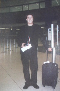 Tristan at airport