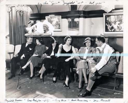 Mitzi on set of The Great Ziegfield watermark