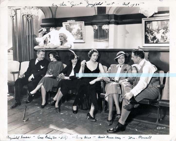 Mitzi on set of The Great Ziegfield watermark