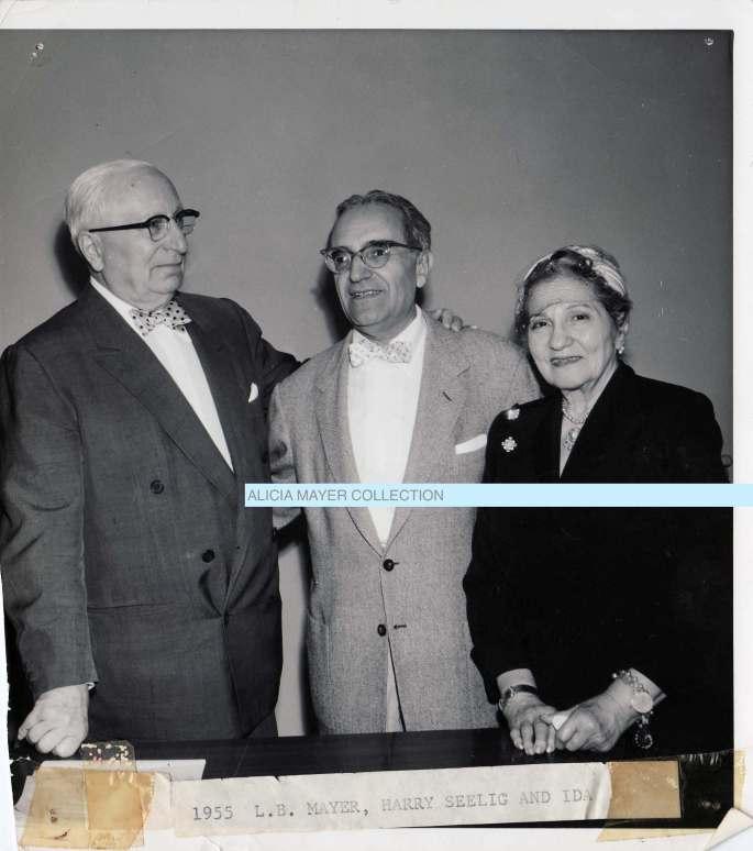 Louis B Mayer + Harry Seelig + Ida watermarked