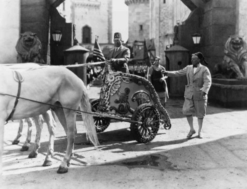 louis b mayer set of ben hur 1924