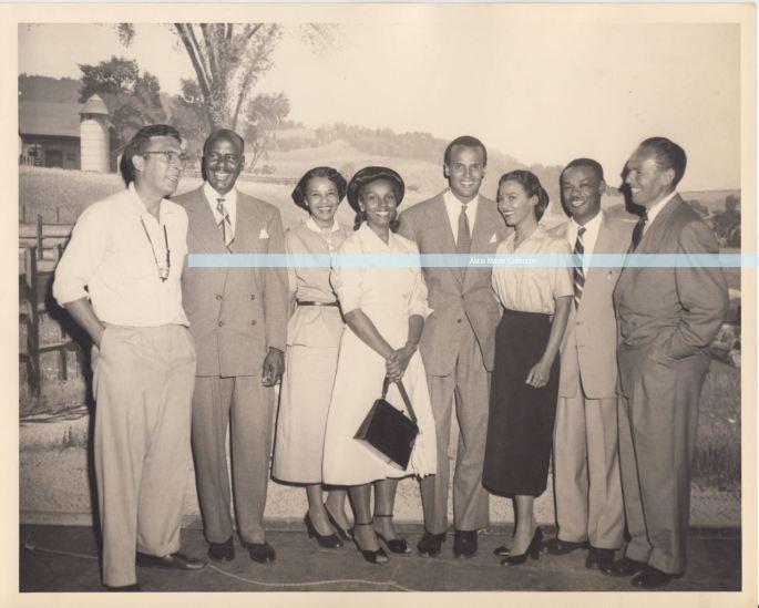 Visitors to Bright Road set 1953 Gerald Mayer + Dorothy Dandridge + Belafonte + Sol watermark