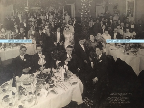 Wedding reception of Mr and Mrs JG Mayer Mon June 3 1918 The Lexington watermark
