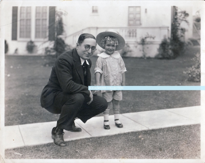 Louis B Mayer with Phillipe De Lacy child star watermark