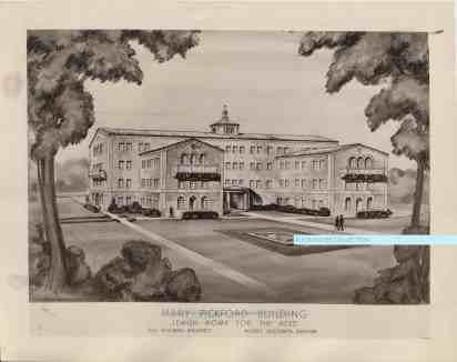 Mary Pickford architectural drawing JHA watermark