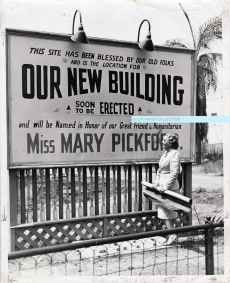 Mary Pickford spearheaded the campaign to raise funds for a new building for the Los Angeles Jewish Home for the Aged. She worked in partnership with my great-grandmother Ida Mayer Cummings and her younger brother, Louis B. Mayer, as well as many prominent Los Angelenos and Hollywood notables.