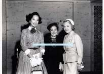 Actress Merle Oberon, Ida Mayer Cummings and Mary Pickford. 1950s.