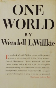 One World book cover Wendell Wilkie