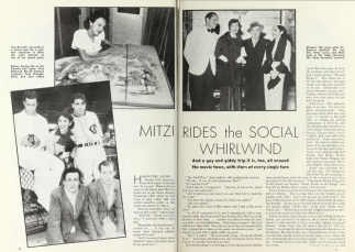 Mitzi article w baseball Photoplay 1935