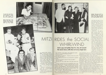Mitzi article w baseball Photoplay 1935