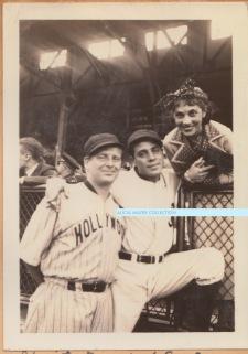Mitzi Charity baseball game Leading Men vs Comics July 1 1935 Wallace Ford Jack La rue Mitzi Cummings watermark